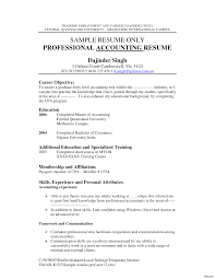 Resume Objective Accounting Examples Resume For Study