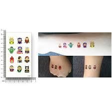 милые цветные татуировки с мультяшным рисунком переводные наклейки для воды
