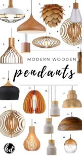 Affordable Modern Lighting Round Up Affordable Modern Wooden Pendant Lights Wood