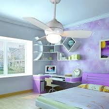 bedroom fan lights. Small White Ceiling Fan With Light Remote Control Children Bedroom Lights