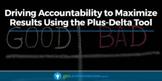 Plus Delta Organization Chart Driving Accountability To Maximize Results Using The Plus