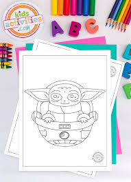 Make your world more colorful with printable coloring pages from crayola. The Most Adorable Baby Yoda Coloring Pages For Kids
