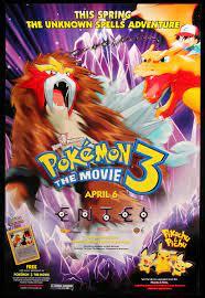 Pokemon 3 - The Movie (2001)Original One-Sheet Movie Poster - Original Film  Art - Vintage Movie Posters