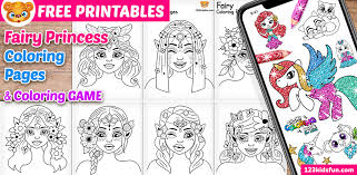 Free printable princess belle coloring pages. Free Printable Fairy Princess Coloring Pages For Girls 123 Kids Fun Apps