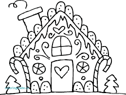 Printable Gingerbread House Coloring Pages Free Coloring Website