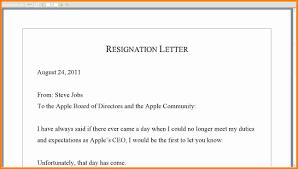 6 Good Resignation Letter Sample Pdf Quick Askips