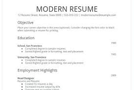 Modern Resume Template Google Docs Google Resume Example