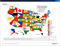 john brown s notes and essays immigrants to each us state note immigration country of origin map