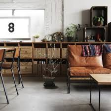 industrial furniture ideas. Modern Industrial Living/Dining Room Furniture Ideas