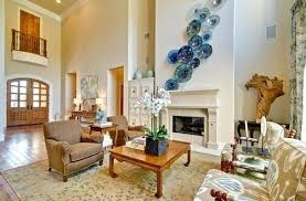 decoration inspiring idea blown glass wall art artwork set decor plates bowls viz
