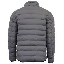 Mens Padded Jacket Brave Soul Quilted Bubble Coat Funnel Neck ... & Mens-Padded-Jacket-Brave-Soul-Quilted-Bubble-Coat- Adamdwight.com