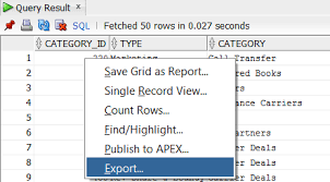 Export Query Results to CSV or Excel from Oracle SQL Developer