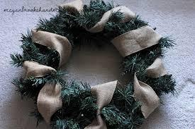 Christmas Wreath with Burlap Ribbon
