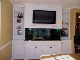 In Wall Entertainment Cabinet Built In Entertainment Center With Aquarium Decor Ideas
