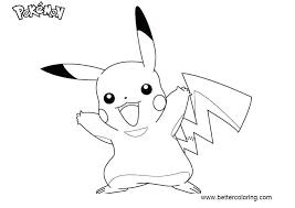 Coloring Pages Pikachu Trustbanksurinamecom