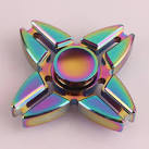 Спинер игрушка spinner металл 6 лопастей многоцветный 4029975