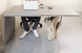 concrete and wood furniture. Stump_desk_1 Concrete And Wood Furniture