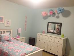 Pottery Barn Girls Bedrooms Maddys Completed Light Blue Pink Big Girl Room Pottery Barn