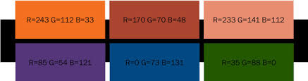 Retro swatches: Retro colors work best when they stand along as a dominant  color element. Pair them with images or muted colors for the best results.