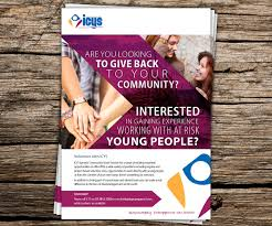 flyer design for icys ipswich community youth service inc by flyer design by beckon designs for youth service needs a flyer to attract volunteers to assist