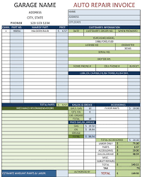 Invoice Template Excel 2003 Auto Repair Invoice Template Excel Invoice Example