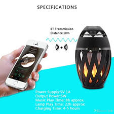 2019 portable bluetooth speaker led fake fire flame lamp holiday atmosphere led flame lamp bluetooth speaker touch soft light for iphone android from ledh