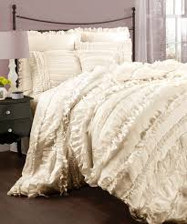 lush decor belle 4 piece comforter set queen ivory set includes one comforter one bed skirt two pillow shams comforter x fabric content polyester