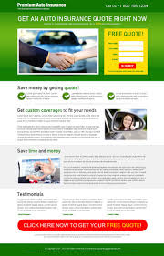 auto insurance free quote appealing lead capture landing page design