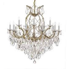 maria theresa 16 light crystal chandelier gold