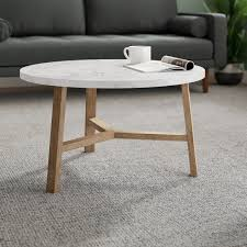 small round white outdoor coffee table