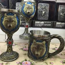whole personalized wolf mugdouble wall stainless steel 3d wolf coffee beer mug gift drinking mugs animal wineglass travel mugs personalized