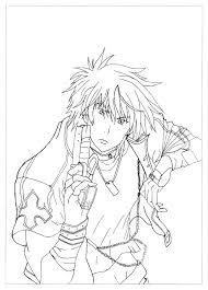 Manga Anime Coloring Pages For Adults Book Colour Identification