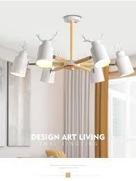 Großhandel Moderne Led Kronleuchter Decke Für Esszimmer Wohnzimmer Schlafzimmer Holz Innen Lampe Leuchte Design Dekoration Eisen Von Guojianglamp