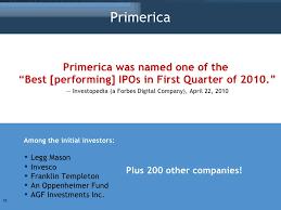 Primerica Presentation Primerica Presentation