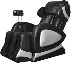 vidaXL <b>Black Electric Artificial</b> Leather Massage Chair with Super ...