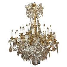 antique chandelier baccarat crystal
