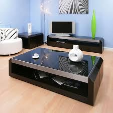 large black oak glass coffee lamp side table modern