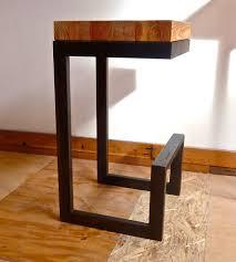 rustic wood bar stools. Reclaimed Wood \u0026 Steel Barstool Rustic Bar Stools