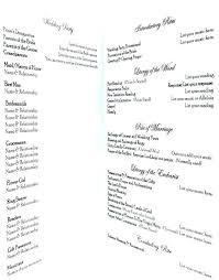 Wedding Ceremony Brochure Ceremony Program Template Catholic Wedding Booklet Script