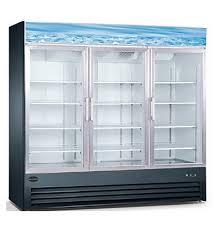 saba 3 glass door freezer with casters