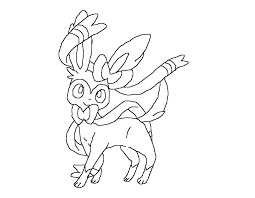 Small Picture Pokemon Coloring Pages Eevee Evolutions Sylveon Image Gallery HCPR