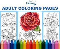 Try out our rose coloring pages. Coloring Pages For Adults Roses Coloring Sheets Jpg Etsy