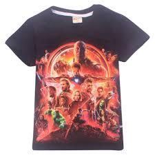2018 <b>Summer Kids T shirt</b> Boys Clothes Avengers Infinity War ...