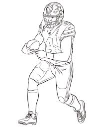 Dak Prescott Coloring Page Free Printable Coloring Pages