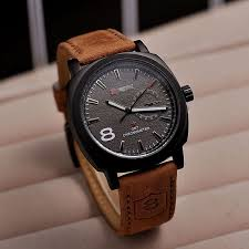 iuneed business co watches guide relojes hombre 2015 male sport military watch 2color leather strap glass hour clock men quartz wristwatch