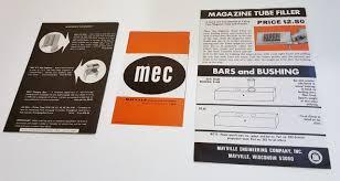 Mec Jr Bushing Chart Installation Instruction Pamphlet Mec E Z Prime V For The