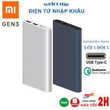 Sạc dự phòng Xiaomi gen 3 18W, Redmi 10000mAh/20000mAh hỗ trợ sạc nhanh 2  cổng sạc vào - ra