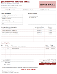 Contractor Invoice Samples Construction Invoice Template Free Invoice Invoice Template