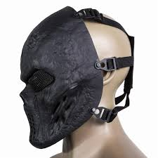 airsoft paintball full face protection skull mask army outdoor metal mesh eye shield costume for