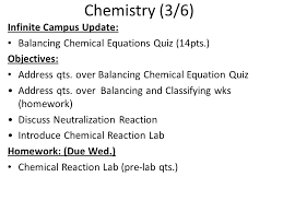 26 chemistry 3 6 infinite campus update balancing chemical equations quiz